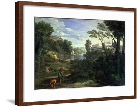 Landscape with Diogenes, 1648-Nicolas Poussin-Framed Art Print