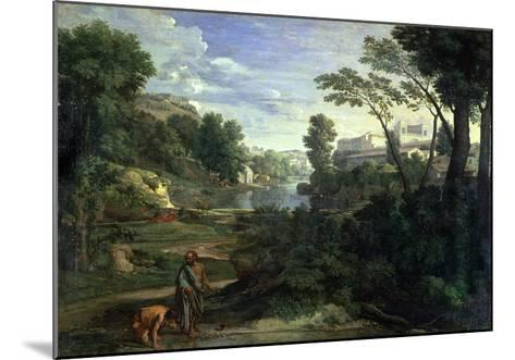 Landscape with Diogenes, 1648-Nicolas Poussin-Mounted Giclee Print