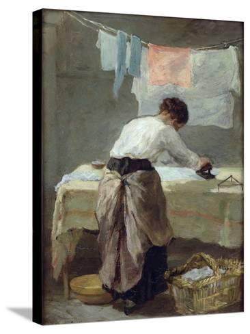 Woman Ironing-Armand Desire Gautier-Stretched Canvas Print