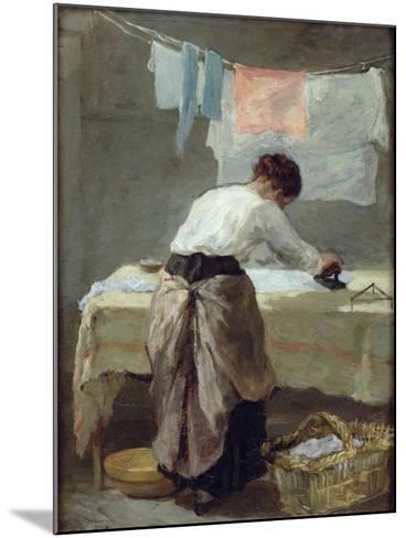 Woman Ironing-Armand Desire Gautier-Mounted Giclee Print