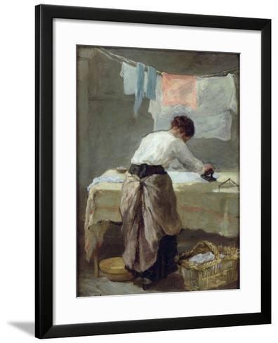 Woman Ironing-Armand Desire Gautier-Framed Art Print