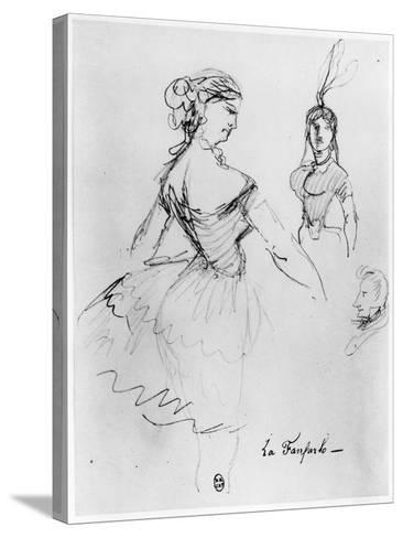 La Fanfarlo-Charles Pierre Baudelaire-Stretched Canvas Print