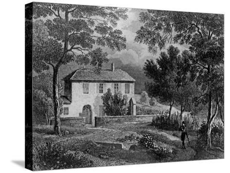 Les Charmettes House of Madame De Warens (1699-1762) Near Chambery, Where Rousseau Stayed--Stretched Canvas Print