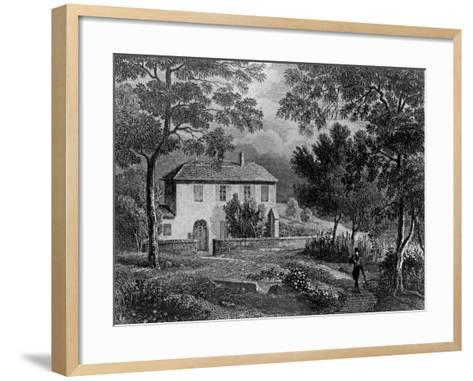 Les Charmettes House of Madame De Warens (1699-1762) Near Chambery, Where Rousseau Stayed--Framed Art Print