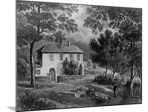 Les Charmettes House of Madame De Warens (1699-1762) Near Chambery, Where Rousseau Stayed--Mounted Giclee Print