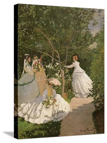 Women in the Garden, 1867-Claude Monet-Stretched Canvas Print