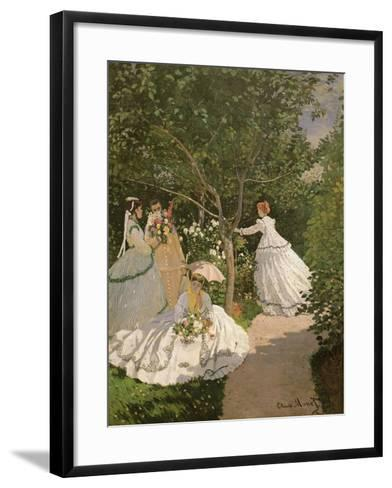 Women in the Garden, 1867-Claude Monet-Framed Art Print