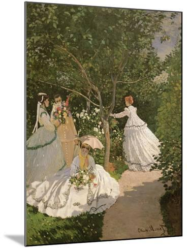 Women in the Garden, 1867-Claude Monet-Mounted Giclee Print