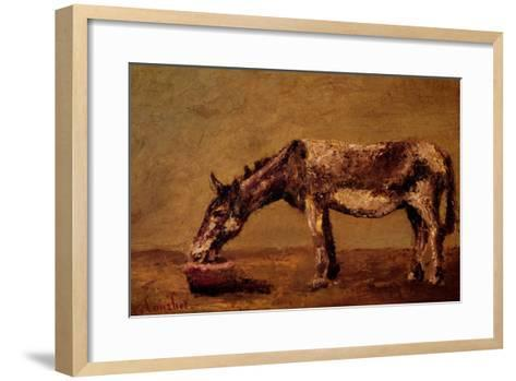 The Donkey-Gustave Courbet-Framed Art Print