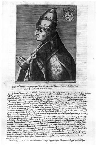 Portrait of Pope John XXII (1244-1334)--Stretched Canvas Print