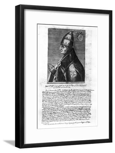 Portrait of Pope John XXII (1244-1334)--Framed Art Print