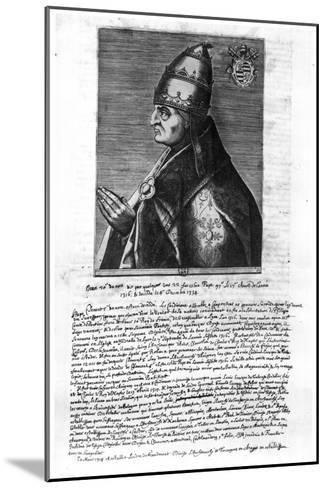 Portrait of Pope John XXII (1244-1334)--Mounted Giclee Print