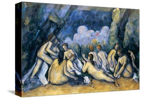 The Large Bathers, circa 1900-05-Paul C?zanne-Stretched Canvas Print