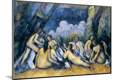 The Large Bathers, circa 1900-05-Paul C?zanne-Mounted Giclee Print