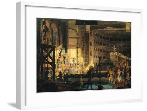 Preparing Scenery in a Theatre--Framed Art Print