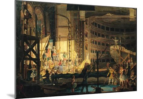 Preparing Scenery in a Theatre--Mounted Giclee Print