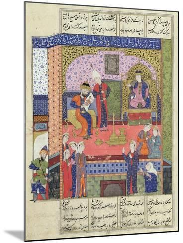 "Interior of the King of Persia's Palace, Illustration from the ""Shahnama"" (Book of Kings)--Mounted Giclee Print"