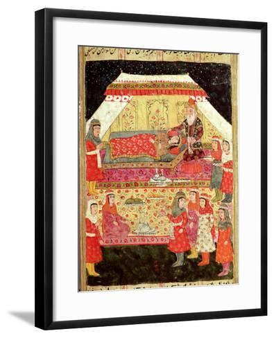 "Harem Scene, from the ""Shahnama"" (Book of Kings), by Abu""L-Qasim Manur Firdawsi (c. 934-c. 1020)--Framed Art Print"