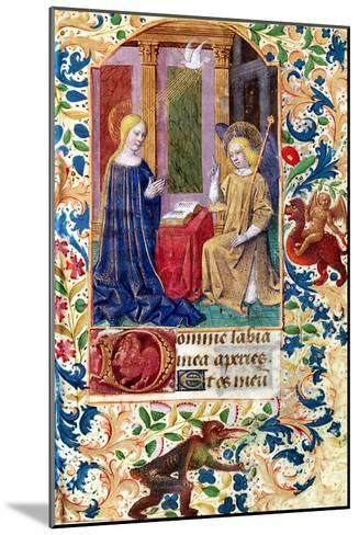 """The Annunciation, from """"Heures D L'Usage De Rome,"""" circa 1465-Jean Fouquet-Mounted Giclee Print"""