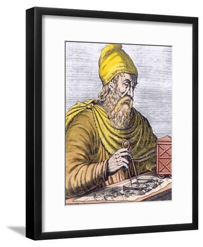 Archimedes (287-212 BC) (Later Colouration)--Framed Art Print