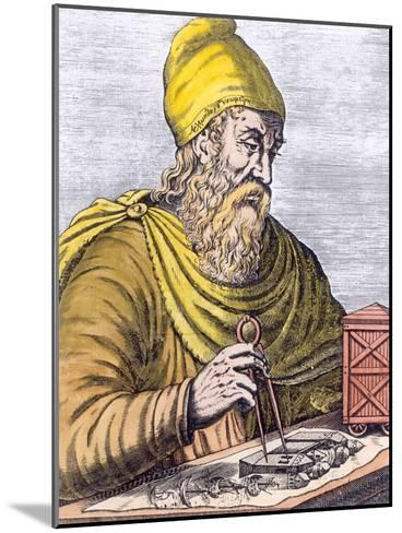 Archimedes (287-212 BC) (Later Colouration)--Mounted Giclee Print