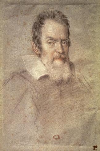 Portrait of Galileo Galilei (1564-1642) Astronomer and Physicist-Ottavio Mario Leoni-Stretched Canvas Print