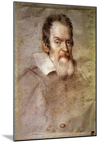 Portrait of Galileo Galilei (1564-1642) Astronomer and Physicist-Ottavio Mario Leoni-Mounted Giclee Print