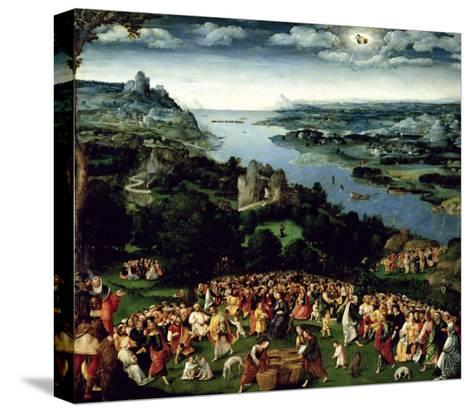 The Feeding of the Five Thousand-Joachim Patenir-Stretched Canvas Print
