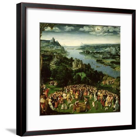 The Feeding of the Five Thousand-Joachim Patenir-Framed Art Print
