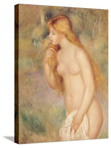 Standing Bather, 1896-Pierre-Auguste Renoir-Stretched Canvas Print