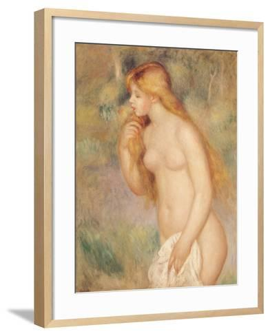 Standing Bather, 1896-Pierre-Auguste Renoir-Framed Art Print