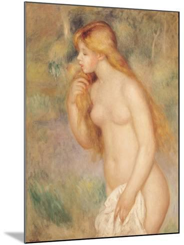 Standing Bather, 1896-Pierre-Auguste Renoir-Mounted Giclee Print