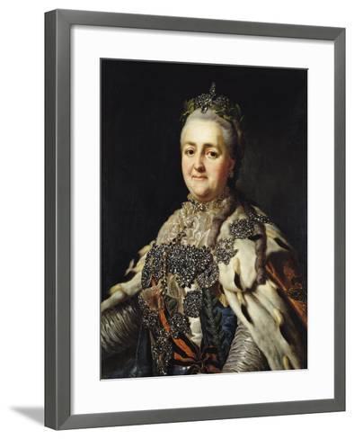 Portrait of Catherine II (1729-96) of Russia-Alexander Roslin-Framed Art Print