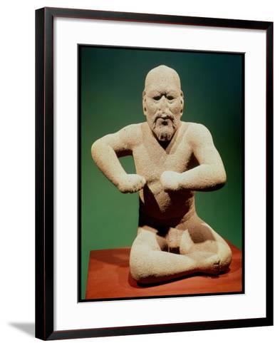 Figurine of a Wrestler--Framed Art Print