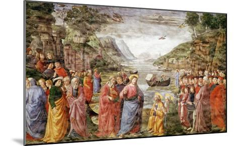 The Calling of Ss. Peter and Andrew, 1481-Domenico Ghirlandaio-Mounted Giclee Print