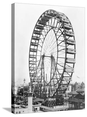 The Ferris Wheel at the World's Columbian Exposition of 1893 in Chicago--Stretched Canvas Print