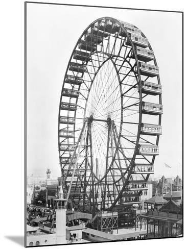 The Ferris Wheel at the World's Columbian Exposition of 1893 in Chicago--Mounted Giclee Print
