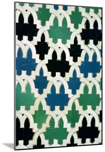 Azulejos Tiles from the Throne of the Sultans from the Patio De Las Doncellas (Faience)--Mounted Giclee Print