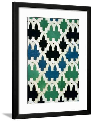 Azulejos Tiles from the Throne of the Sultans from the Patio De Las Doncellas (Faience)--Framed Art Print
