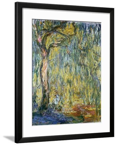 The Large Willow at Giverny, 1918-Claude Monet-Framed Art Print