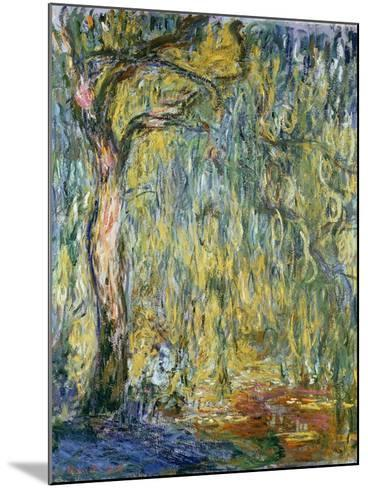 The Large Willow at Giverny, 1918-Claude Monet-Mounted Giclee Print