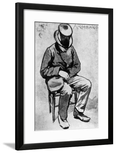 Arthur Rimbaud (1854-91) Slumped on a Chair and Dozing, in London, 1872-Felix Elie Regamey-Framed Art Print