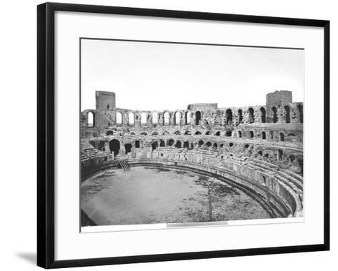 Interior View of the Amphitheatre--Framed Art Print
