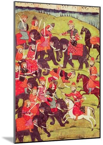 "A Battle Scene, from the ""Shahnama"" (Book of Kings) by Abu""L-Qasim Manur Firdawsi (c. 934-c. 1020)--Mounted Giclee Print"