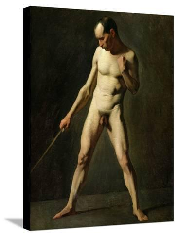 Nude Study-Jean-Fran?ois Millet-Stretched Canvas Print