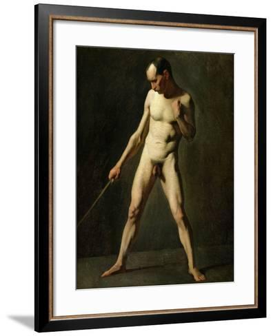 Nude Study-Jean-Fran?ois Millet-Framed Art Print
