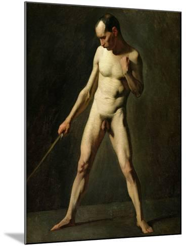 Nude Study-Jean-Fran?ois Millet-Mounted Giclee Print