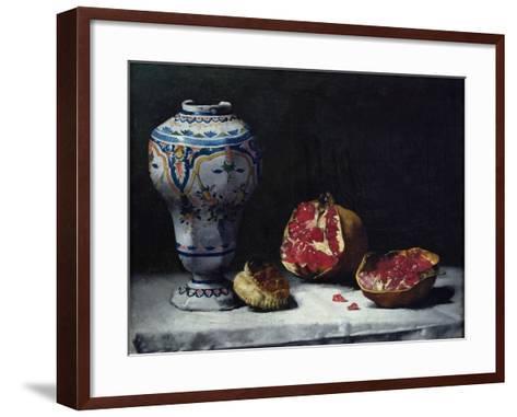 Still Life with a Pomegranate-Théodule Augustin Ribot-Framed Art Print