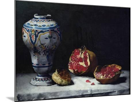 Still Life with a Pomegranate-Théodule Augustin Ribot-Mounted Giclee Print