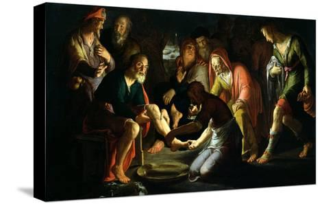 Christ Washing the Disciples' Feet, 1623-Peter Wtewael-Stretched Canvas Print